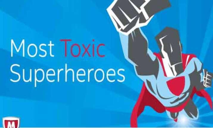 superman most toxic superhero online mcafee