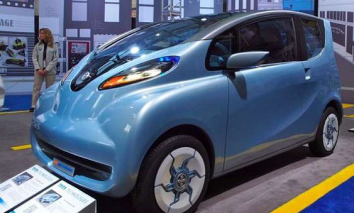 tata unveils cheap electric car