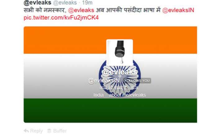 tipster evleaks opens twitter account in india
