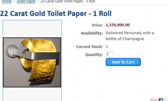 toilet paper made of 22 carat gold goes on sale at rs 8.2