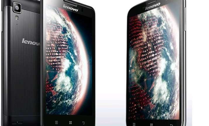top 10 lenovo smartphones in india april 2014