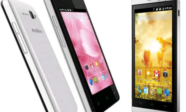 top 10 spice 3g smartphones in india may 2014