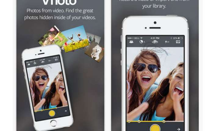 vhoto app for ios users captures still images from video