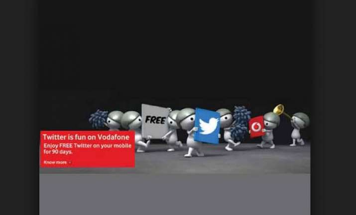 vodafone india offers free twitter access for three months