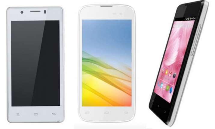 weekly smartphone launches gionee pioneer p4 lava iris 450