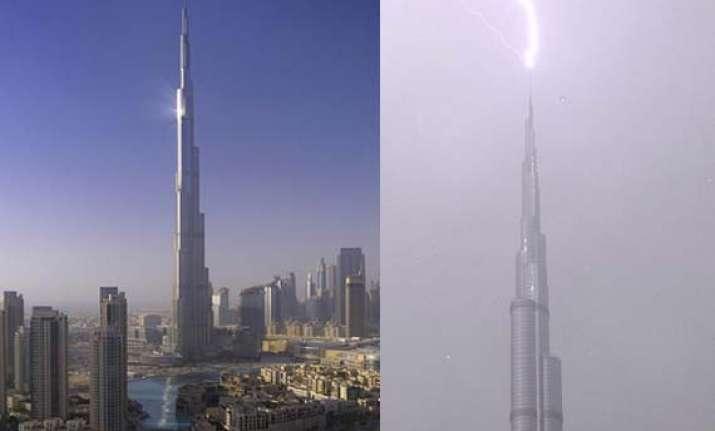 when bolt hit the world s tallest building in dubai
