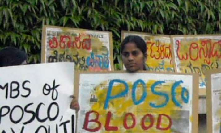 work halted on posco project villagers allege police excess