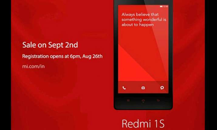xiaomi to offer 40000 redmi 1s handsets on sale sept 2
