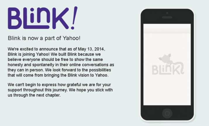 yahoo buys vanishing message app blink