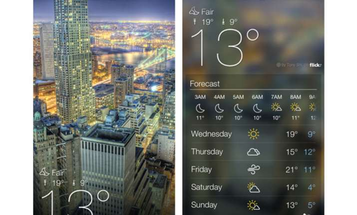 Yahoo launches iOS weather app, email apps for iPad, Android