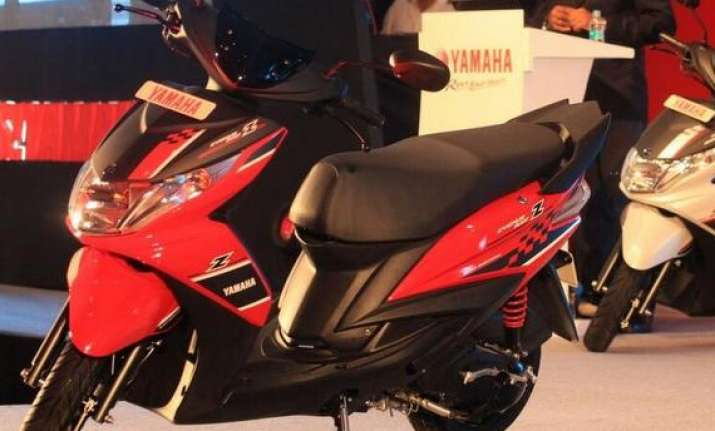 yamaha launches male specific ray z scooter in india