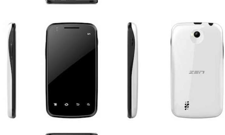 zen launches dual sim ultraphone u1 with android 2.3 for