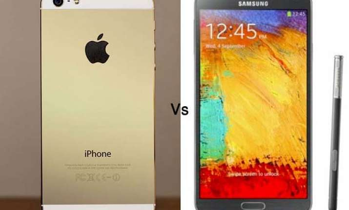 apple iphone 5s vs samsung galaxy note 3 a comparison of
