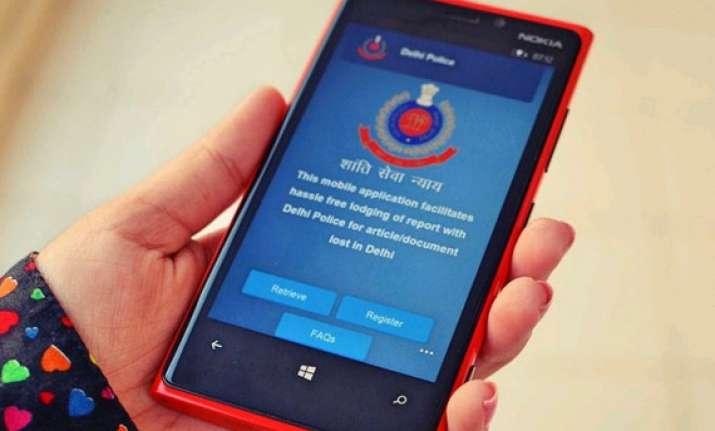 e filing of complaints on mobiles delhi police develop apps