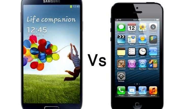 a comparison samsung galaxy s4 vs iphone 5