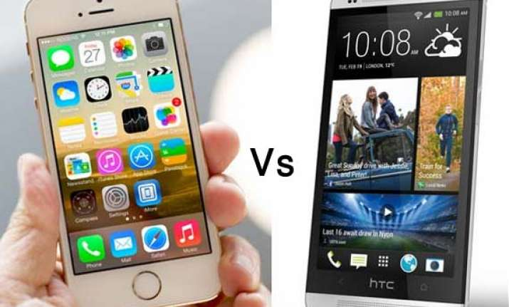 iphone 5s vs. htc one a comparison