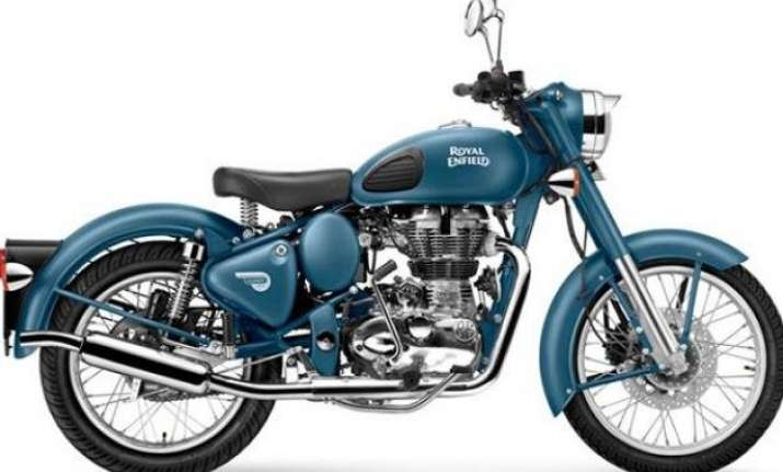 royal enfield brings new squadron blue colour the classic