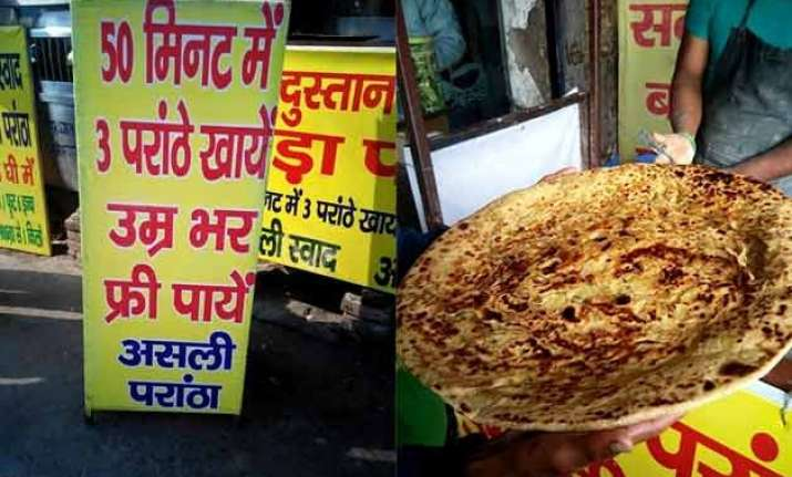 foodies challenge eat 3 paratha s and have it free for rest