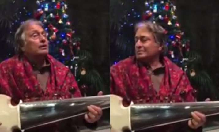 watch ustad amjad ali khan spills magic plays jingle bells