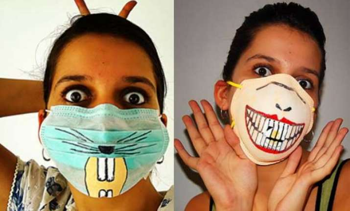 don t forget to wear stylish swine flu mask before stepping