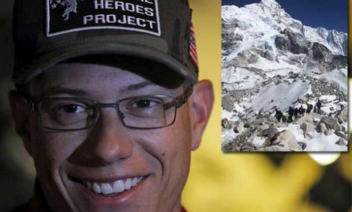 former us marine set to climb mt. everest on artificial limb