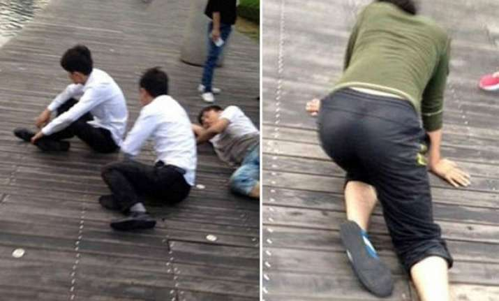 inhuman chinese company made employees to crawl on knees