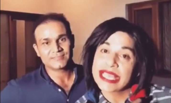 watch virender sehwag s funny dubsmash video will leave you