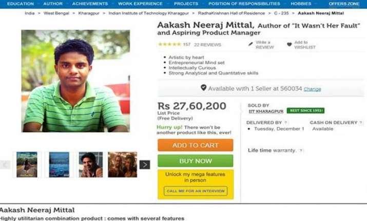 insane iit graduate sells himself on flipkart to get a job