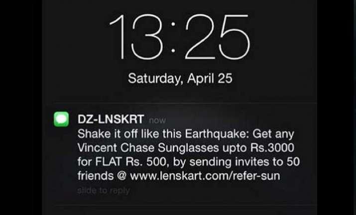 lenskart s jibe on nepal earthquake twitter reaction