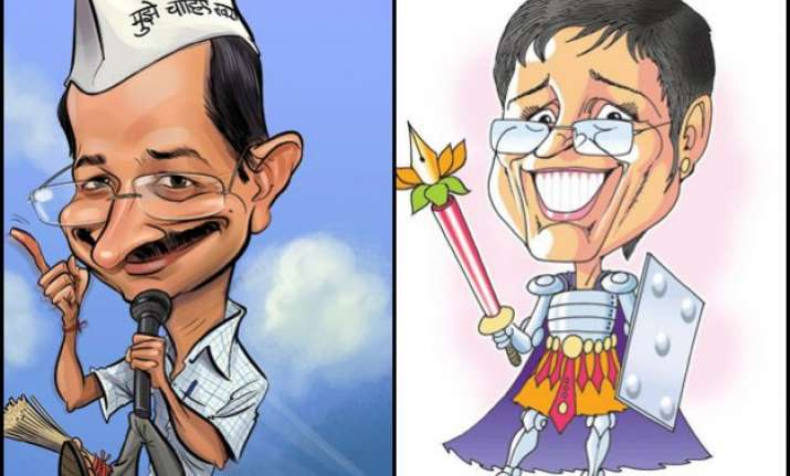 bjp vs aap battle of political caricatures ruining the quintessence