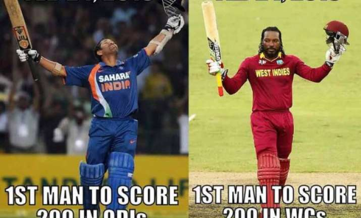 chris gayle sachin tendulkar deja vu moment turns a craze
