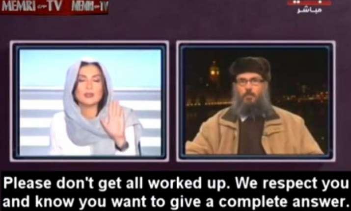 watch video lebanese tv host shuts islamic scholar s sexist