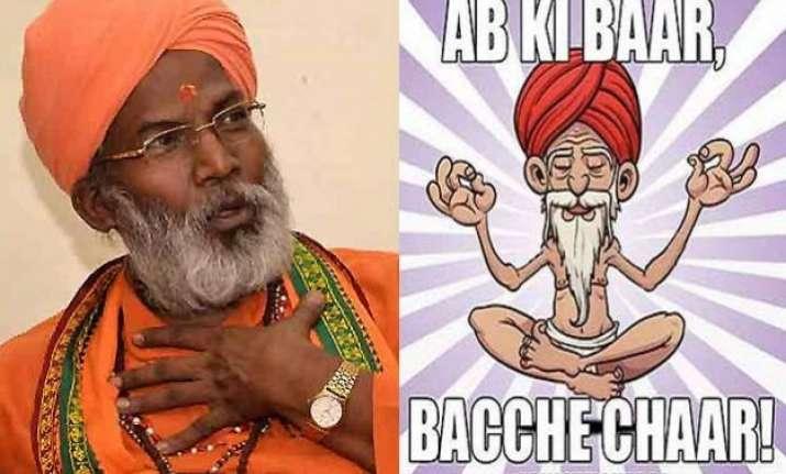 twitteratis mock sakshi maharaj s produce 4 children remark