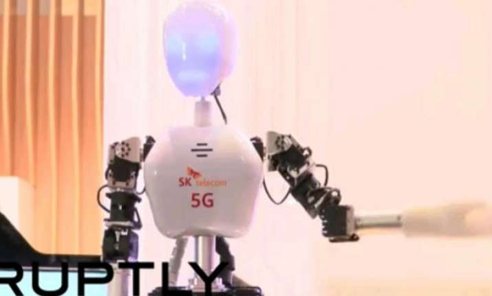 watch here comes 5g robot to save you from natural disasters