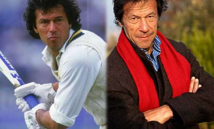 new pakistan imran khan opens the innings with a blast