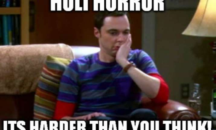 Sheldon Cooper Reacting To Holi Is The Funniest Thing You