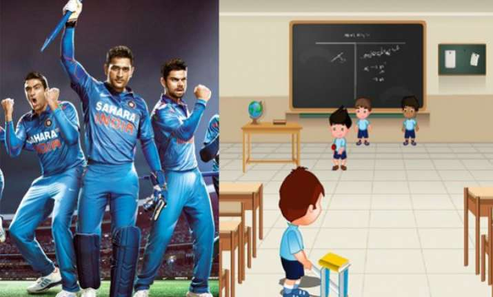what if cricket teams were actually students in classrooms