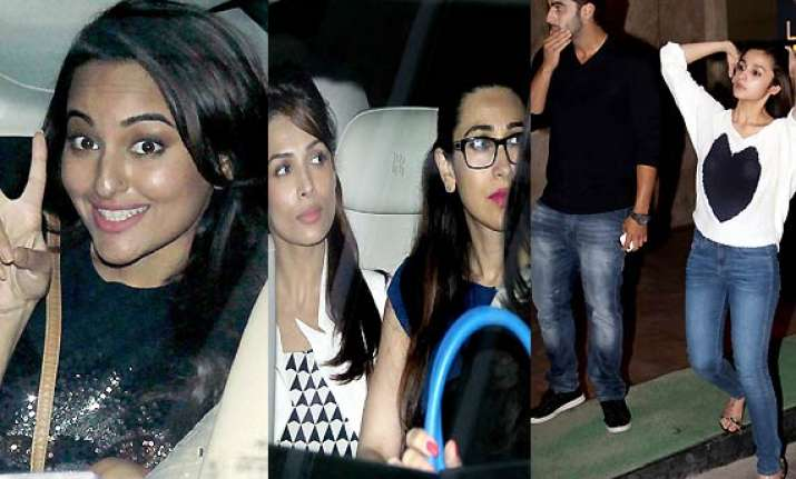 sonakshi karisma malaika watch 2 states with alia and arjun