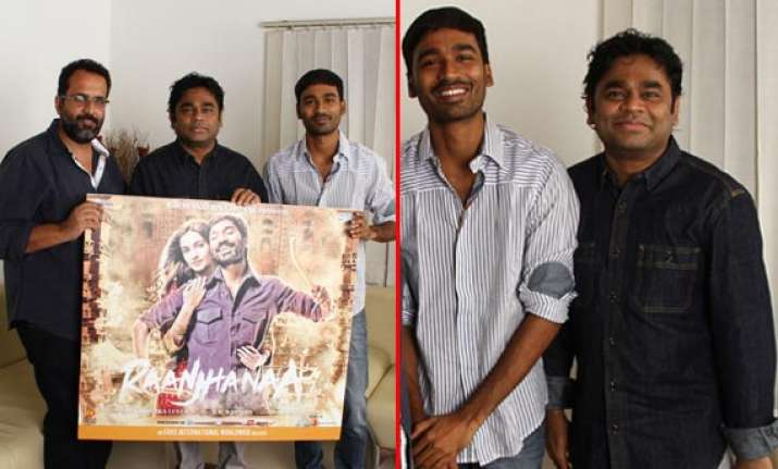 ar rahman and dhanush unveil raanjhanaa music view pics