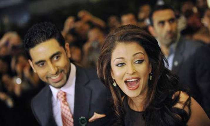 abhishek nervous about his first comedy with ash