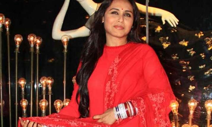 aditya chopra ok with rani mukerji working after marriage