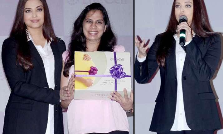 aishwarya rai bachchan promotes stem cell banking view pics