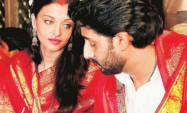 aishwarya rai watches abhishek on skype ends her karva