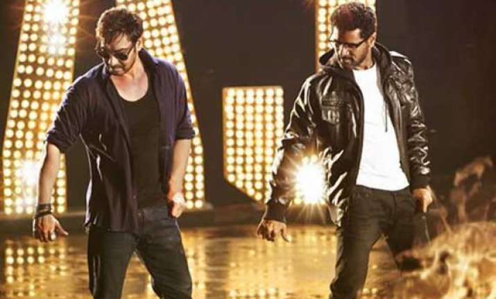 ajay devgn couldn t escape dancing in action jackson