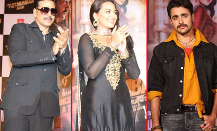 akshay sonakshi and imran unveiled the trailer of once