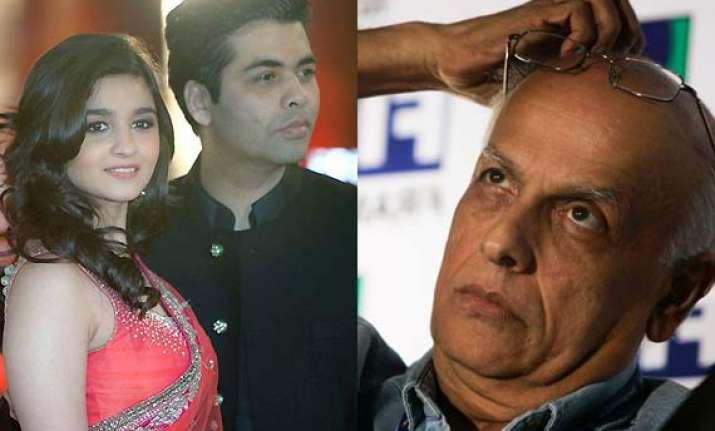 alia bhatt prefers karan johar over dad mahesh bhatt for