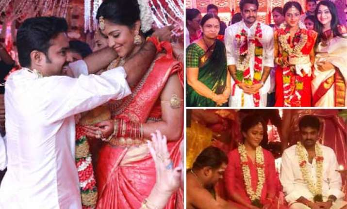 amala paul and vijay tie the knot in south indian style