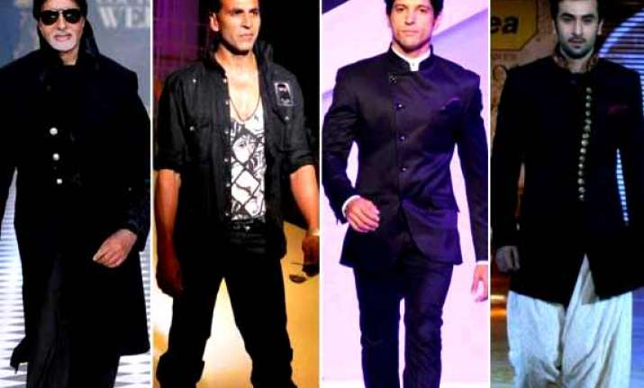 amitabh akshay ranbir farhan to set the ramp on fire at