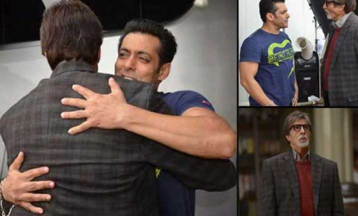 amitabh bachchan meets salman and tabu view pics