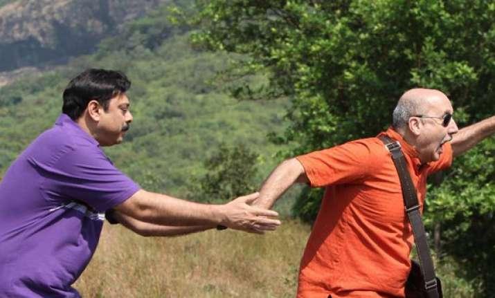 anupam kher debuts in marathi film as blind man